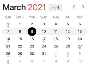 march 9 2021