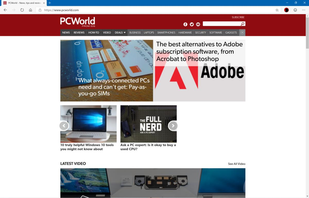 Hands on with the next Microsoft Edge, Microsoft's revamped