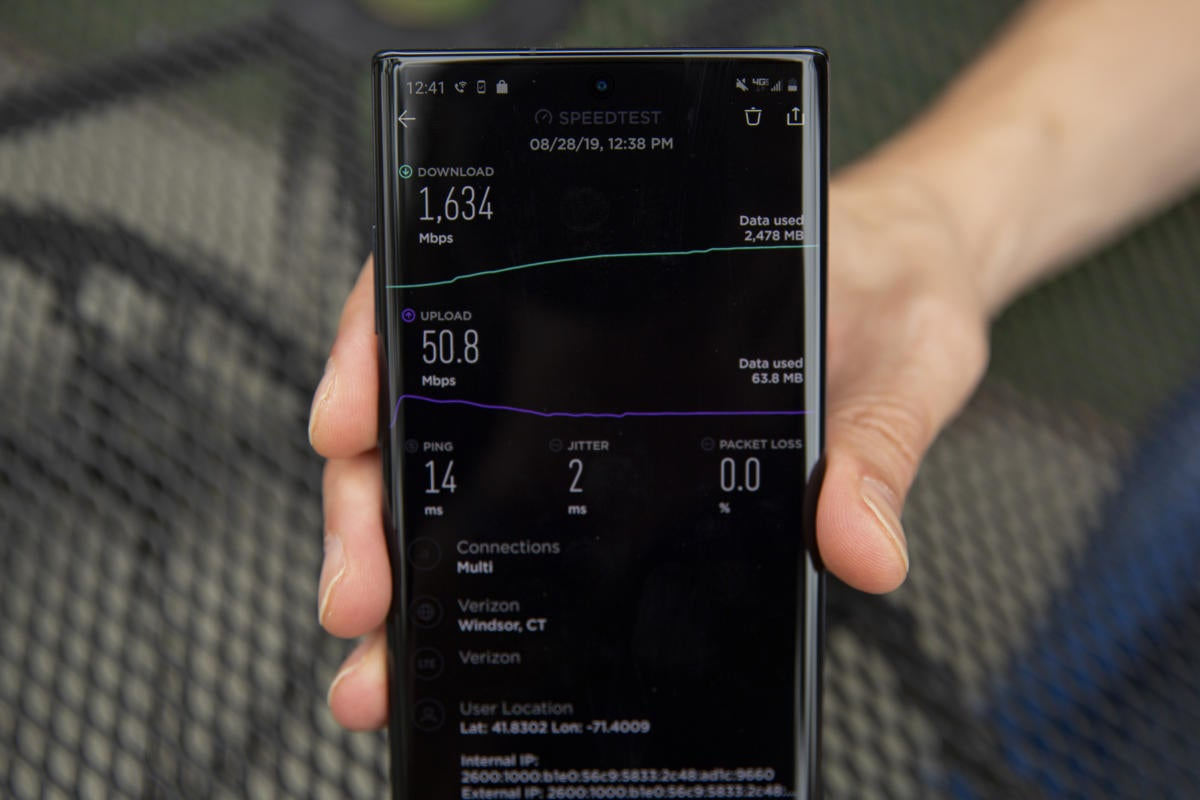 5G on the Samsung Galaxy Note 10+ delivers dizzying highs