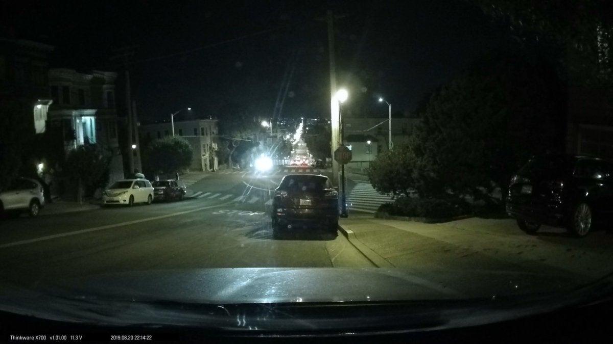 thinkware night front no headlights
