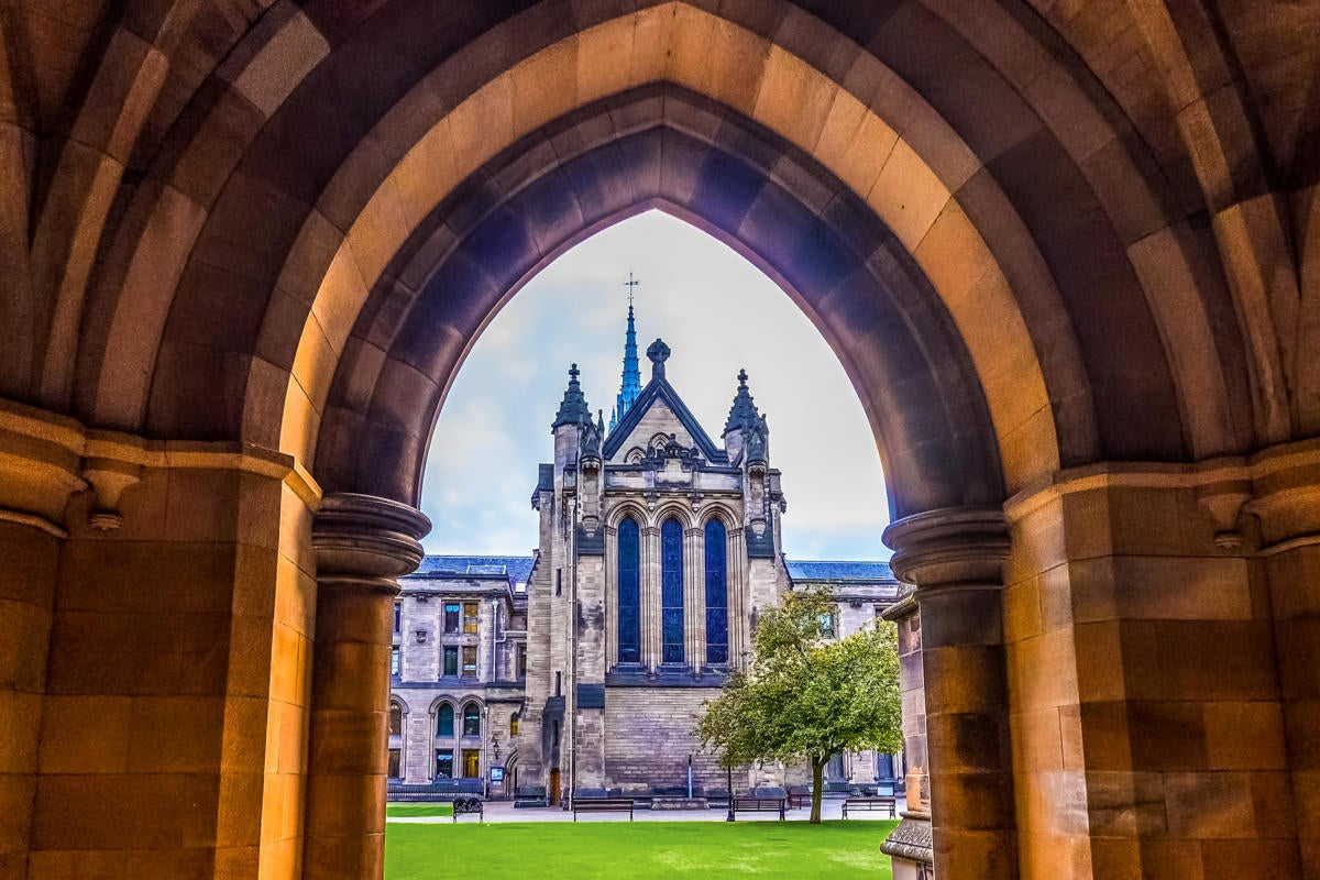 UK | United Kingdom  >  Scotland  >  Glasgow  >  University of Glasgow / cloisters / undercroft