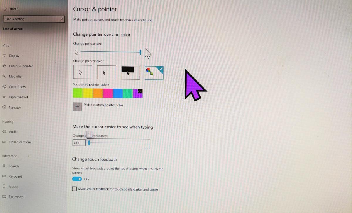 windows 10 cursor