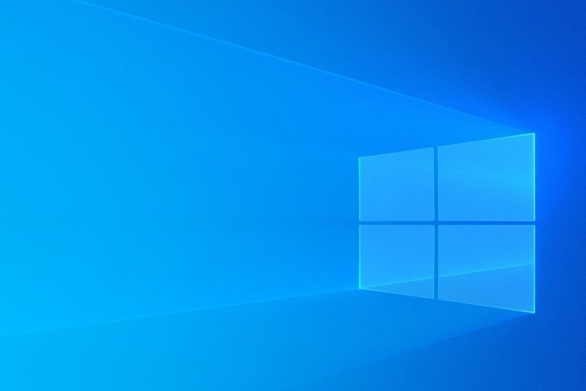 windows 10 logo onscreen