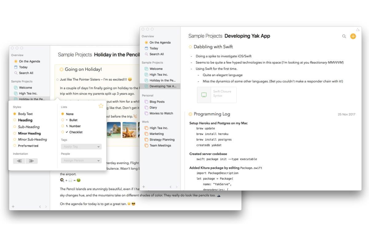 agenda 6 mac text styles