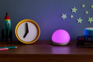 amazon echo glow purple light