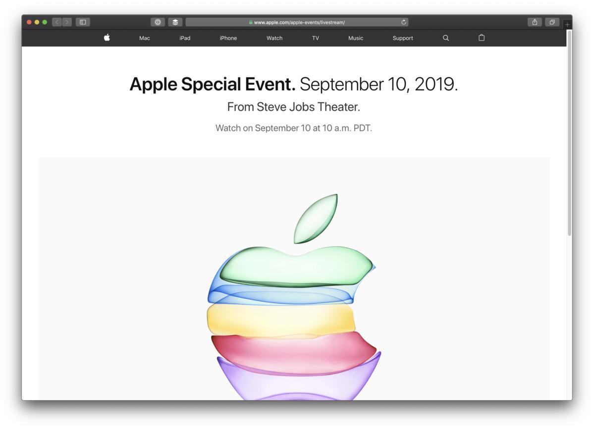 apple event sept10 safari