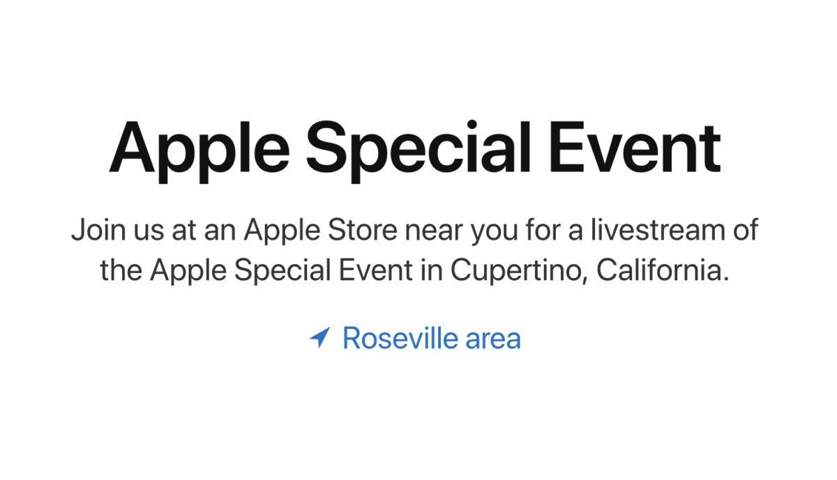 apple event store stream