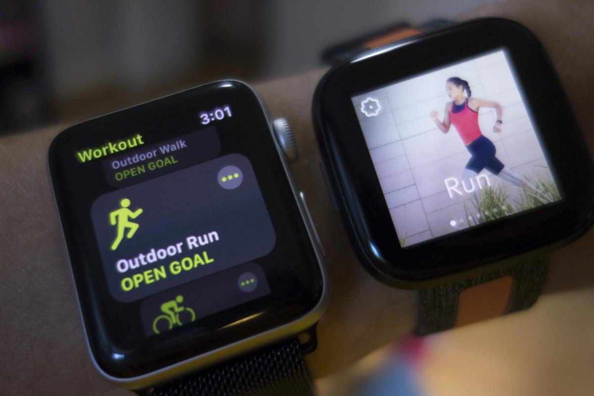 apple watch versa workout