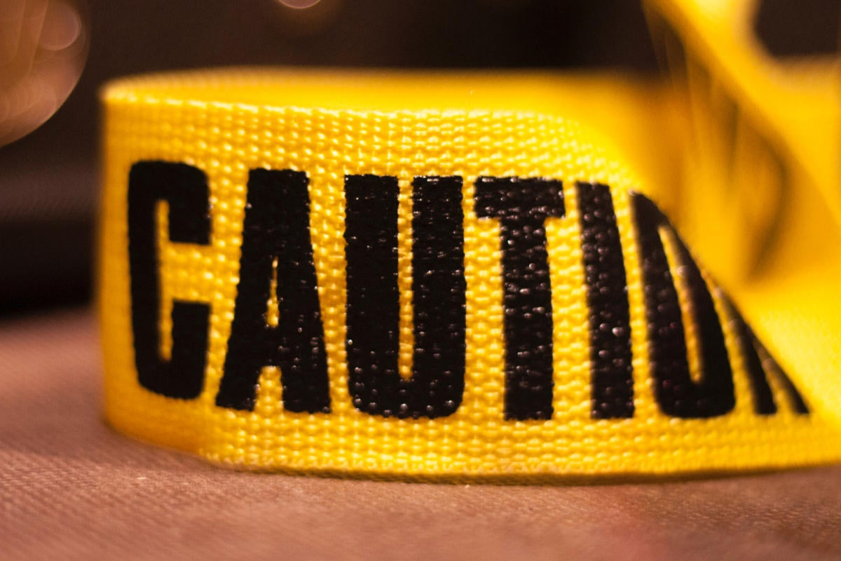 caution tape avoid mistake mistakes be careful crime scene by christian storto fotografia getty
