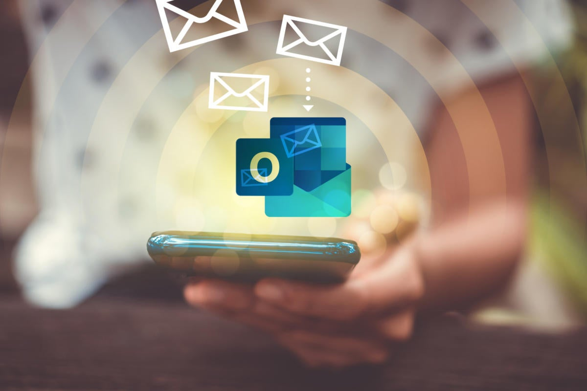 Email migration to Microsoft Outlook app on mobile email for smartphone user.