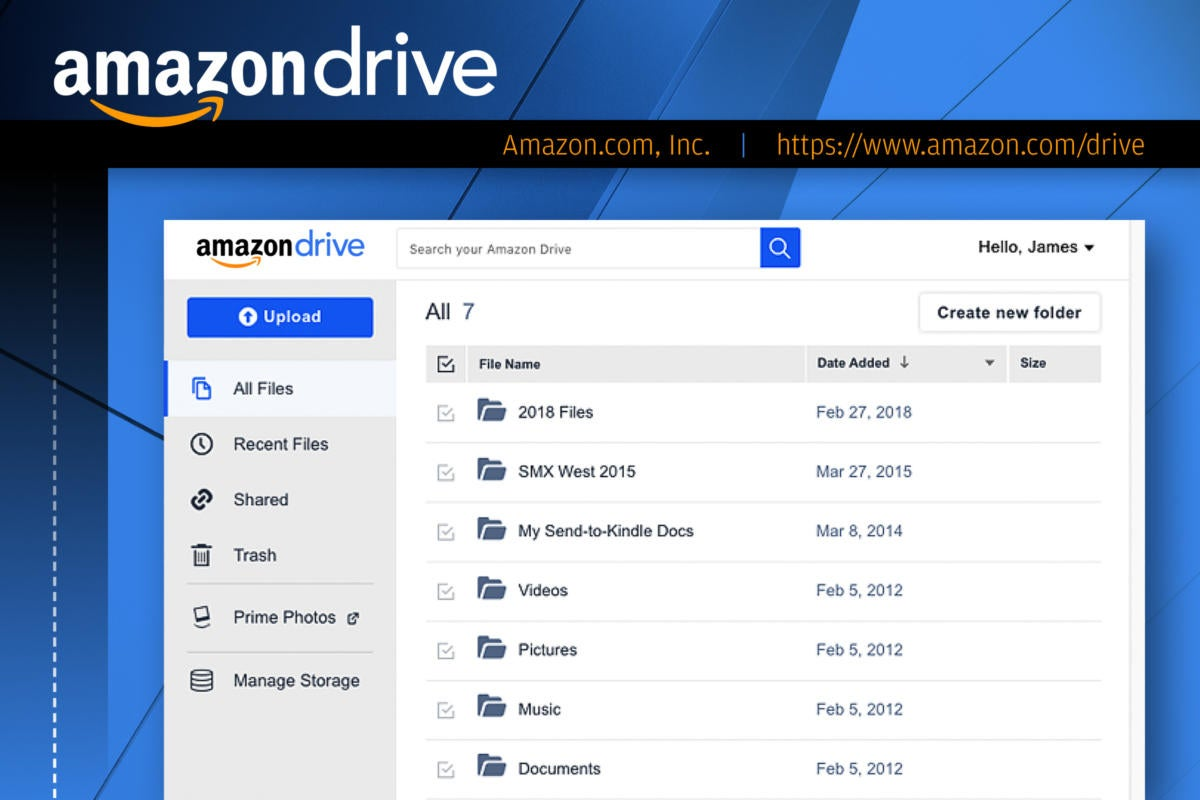 Computerworld slideshow: Top 10 file-sharing options  >  Amazon Drive