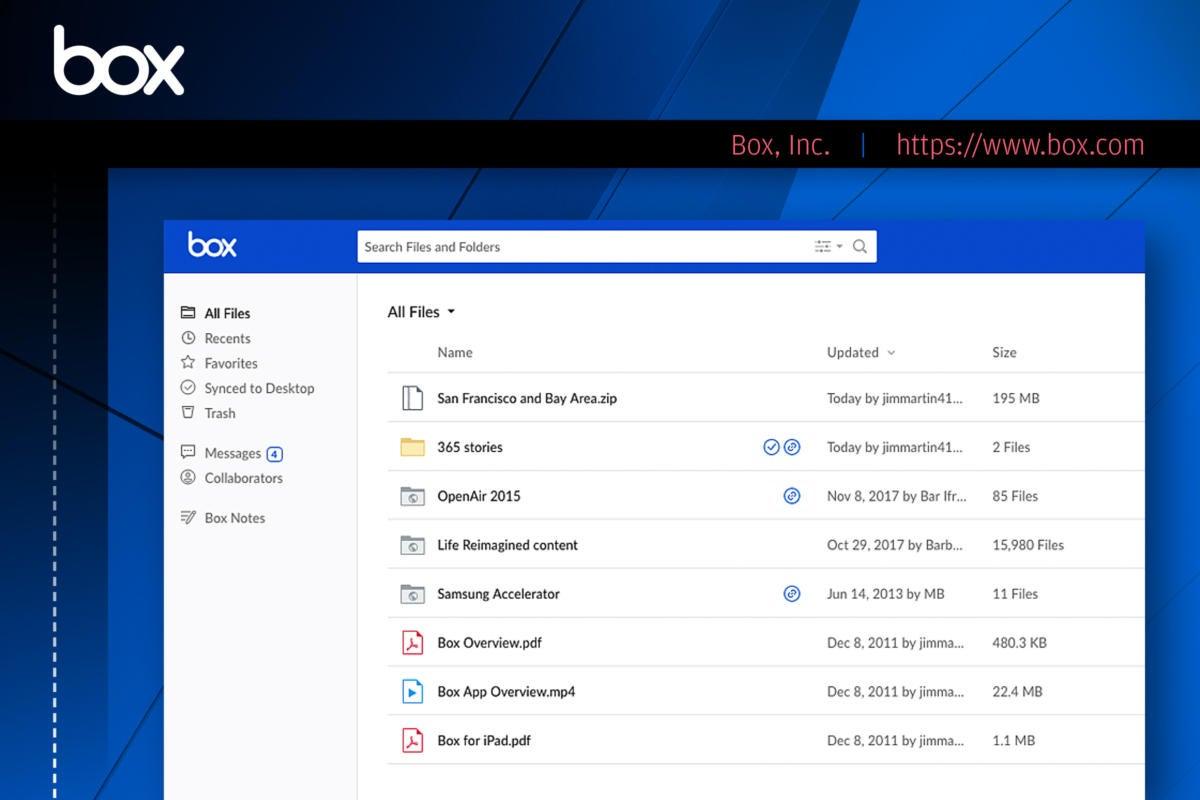 Computerworld slideshow: Top 10 file-sharing options  >  Box