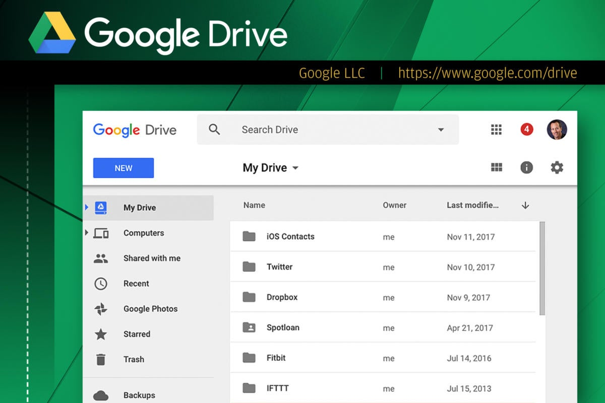 Computerworld slideshow: Top 10 file-sharing options  >  Google Drive