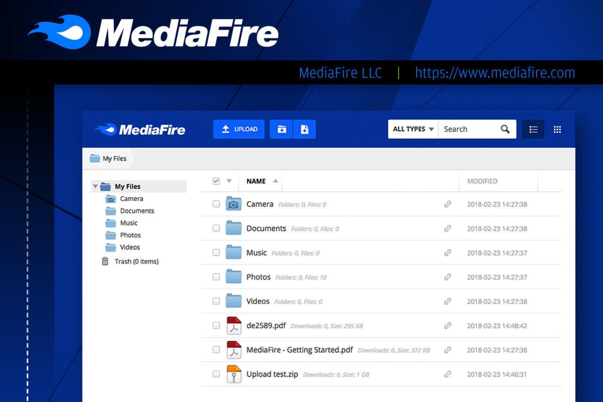 Computerworld slideshow: Top 10 file-sharing options  >  MediaFire