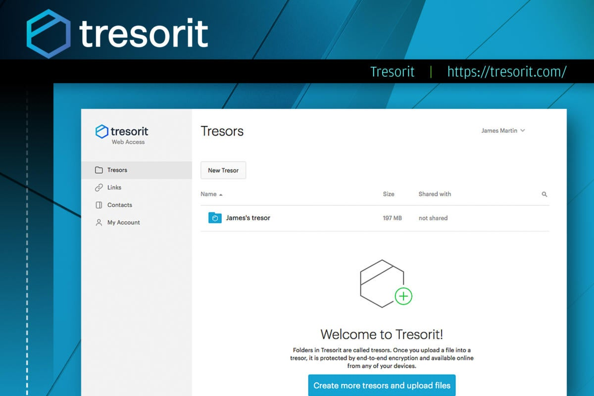 Computerworld slideshow: Top 10 file-sharing options  >  Tresorit