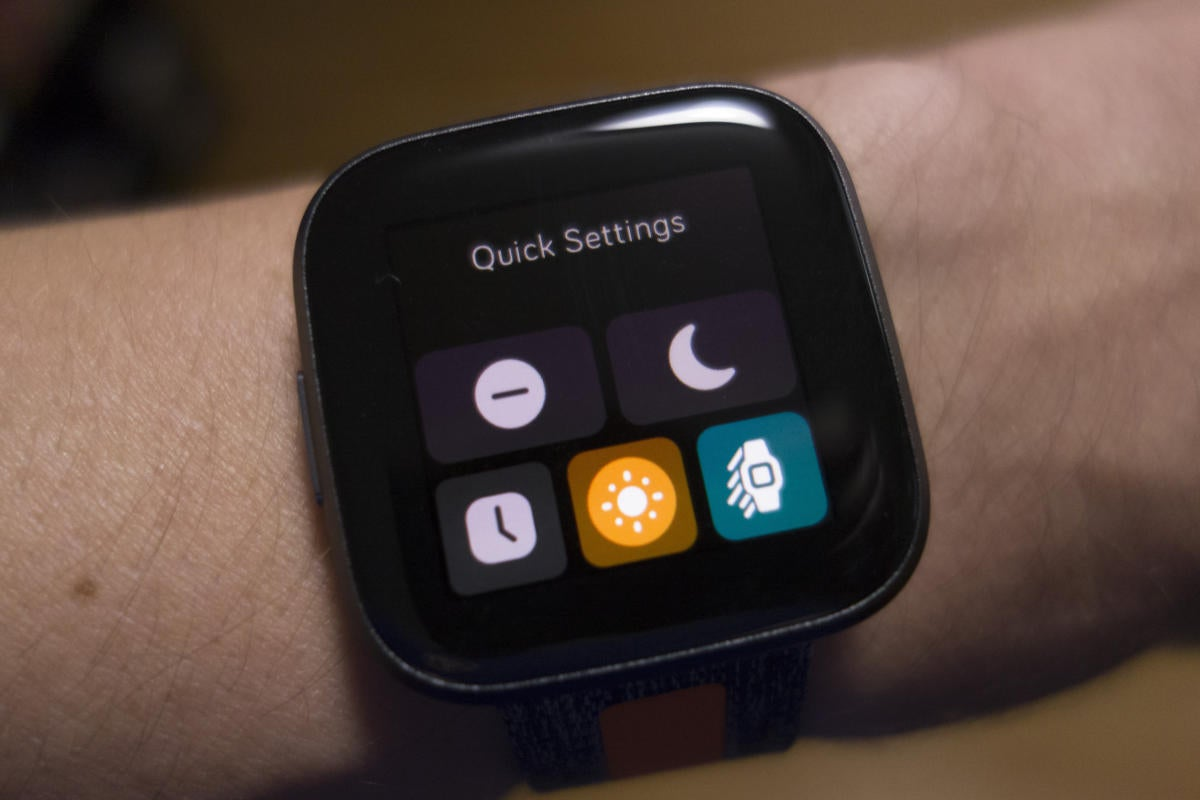 fitbit versa 2 quick settings