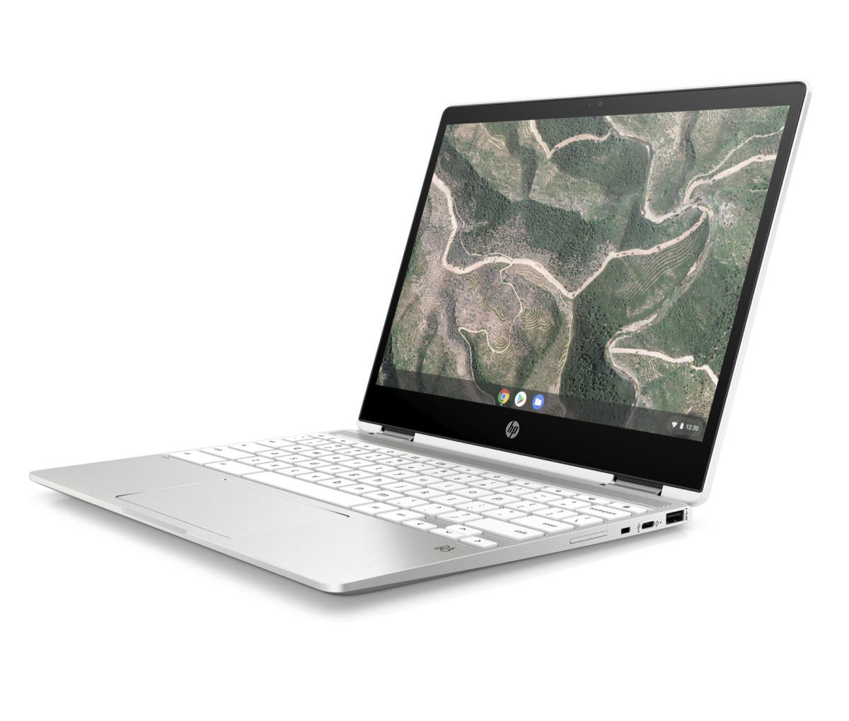 hp chromebook x360 12b frontleft