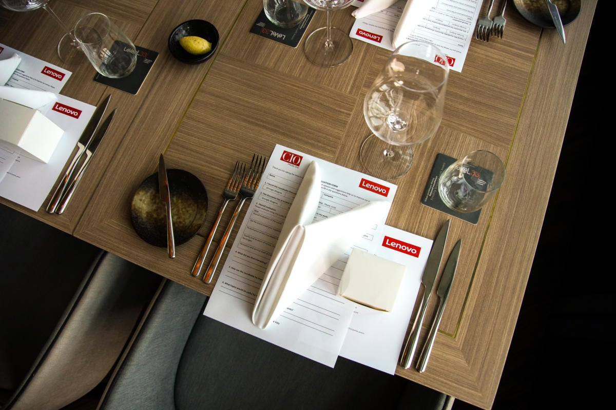 The table is set for CIO ASEAN's roundtable in Singapore