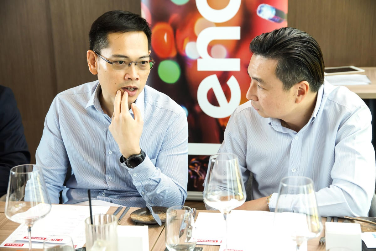 (l) Jacob Tong, Global CIO of Keppel and (r) Alvin Aw, Head of IT at Dentons Rodyk & Davidson