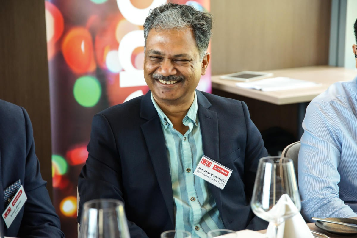 Manohar Venkatagiri, Director of IT and Business Excellence at AkzoNobel Paints