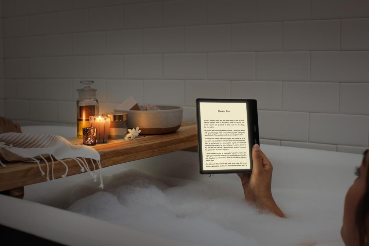 kindle oasis bathtub