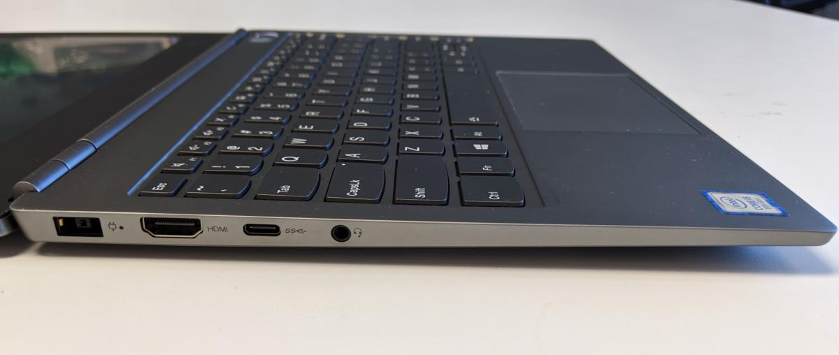 Lenovo ThinkBook 13s left side