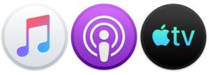 iconos de tv de podcast de música de macos catalina