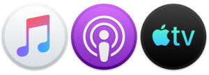 macos catalina music podcast tv icons