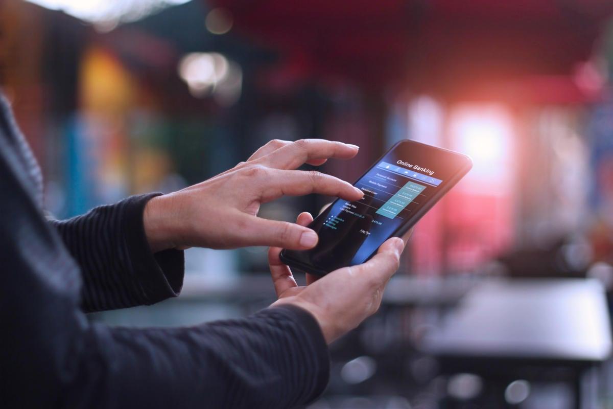 mobile banking / online banking / digital transactions / smartphone