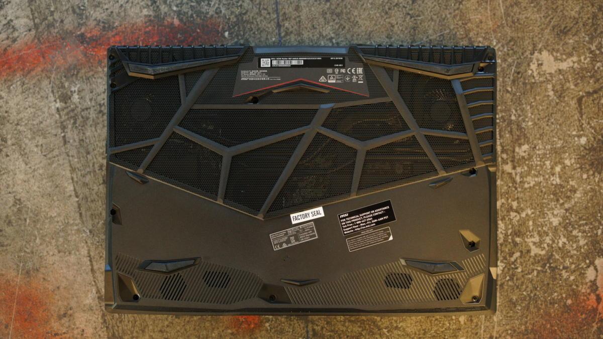 msi ge65 raider bottom