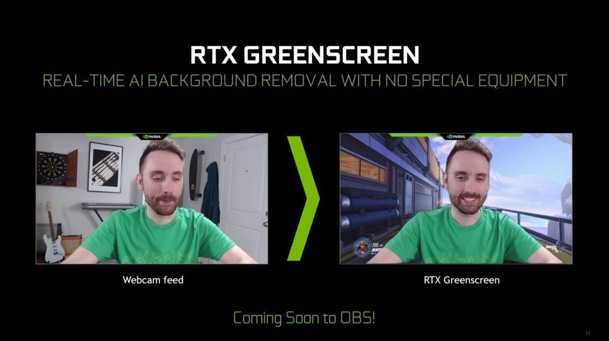 nvidia rtx greenscreen
