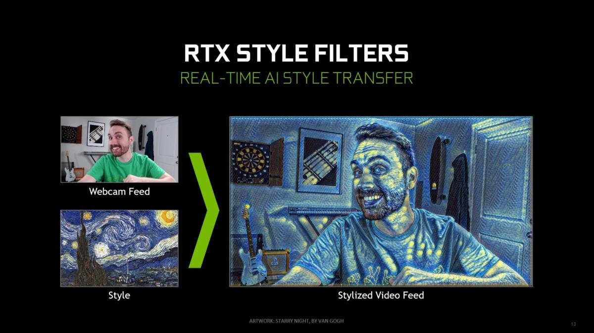 nvidia rtx style filters