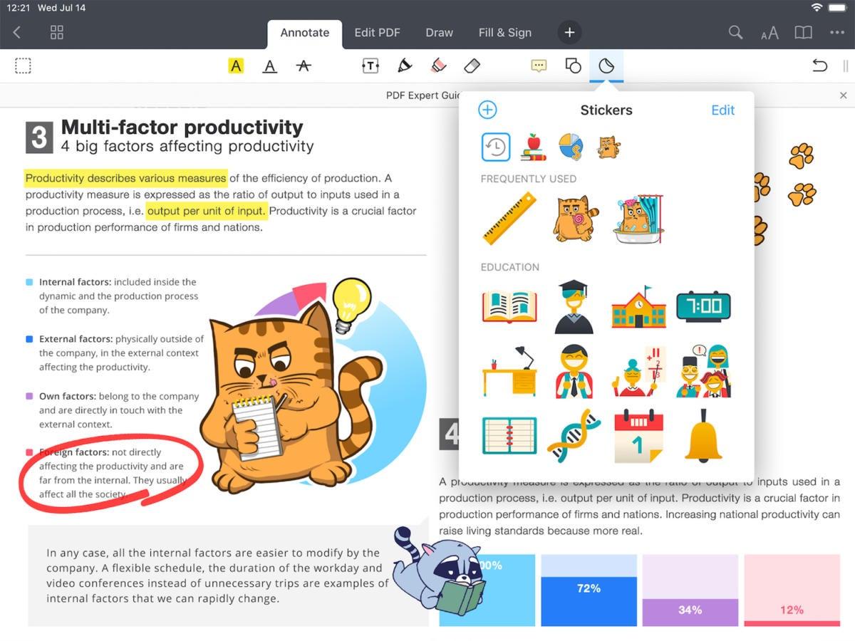 pdf expert 7 ipad stickers