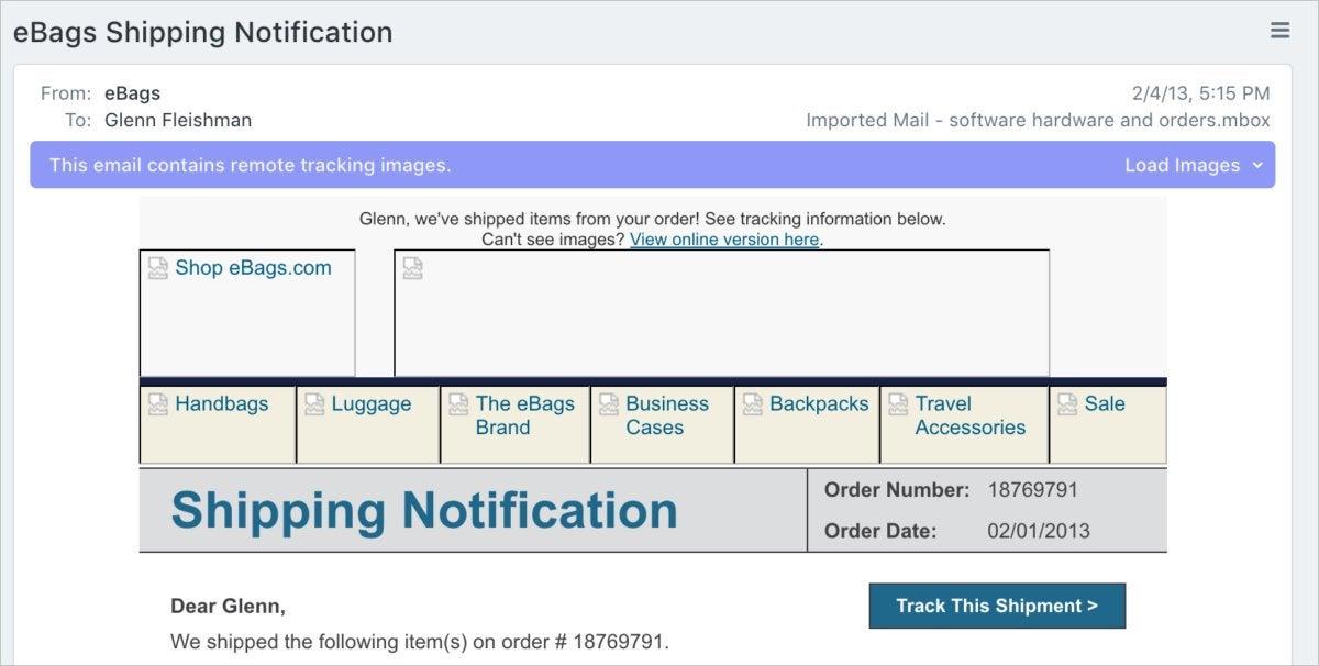 postbox tracking warning
