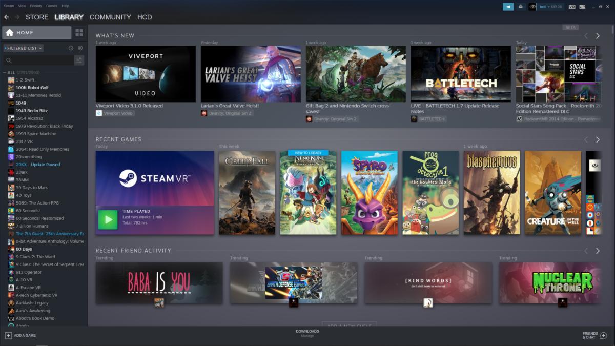 Steam Library Update - Beta
