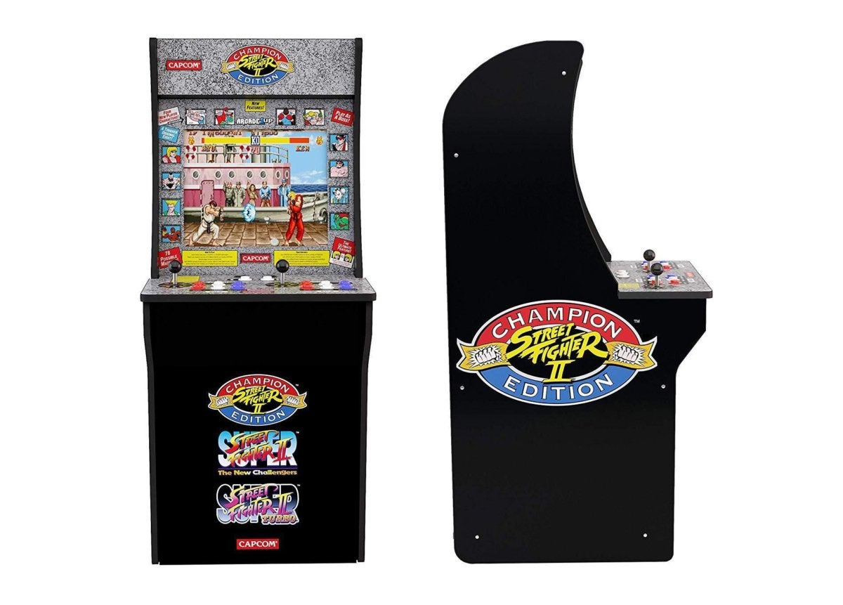 Create your own arcade room! This 3-in-1 Street Fighter unit