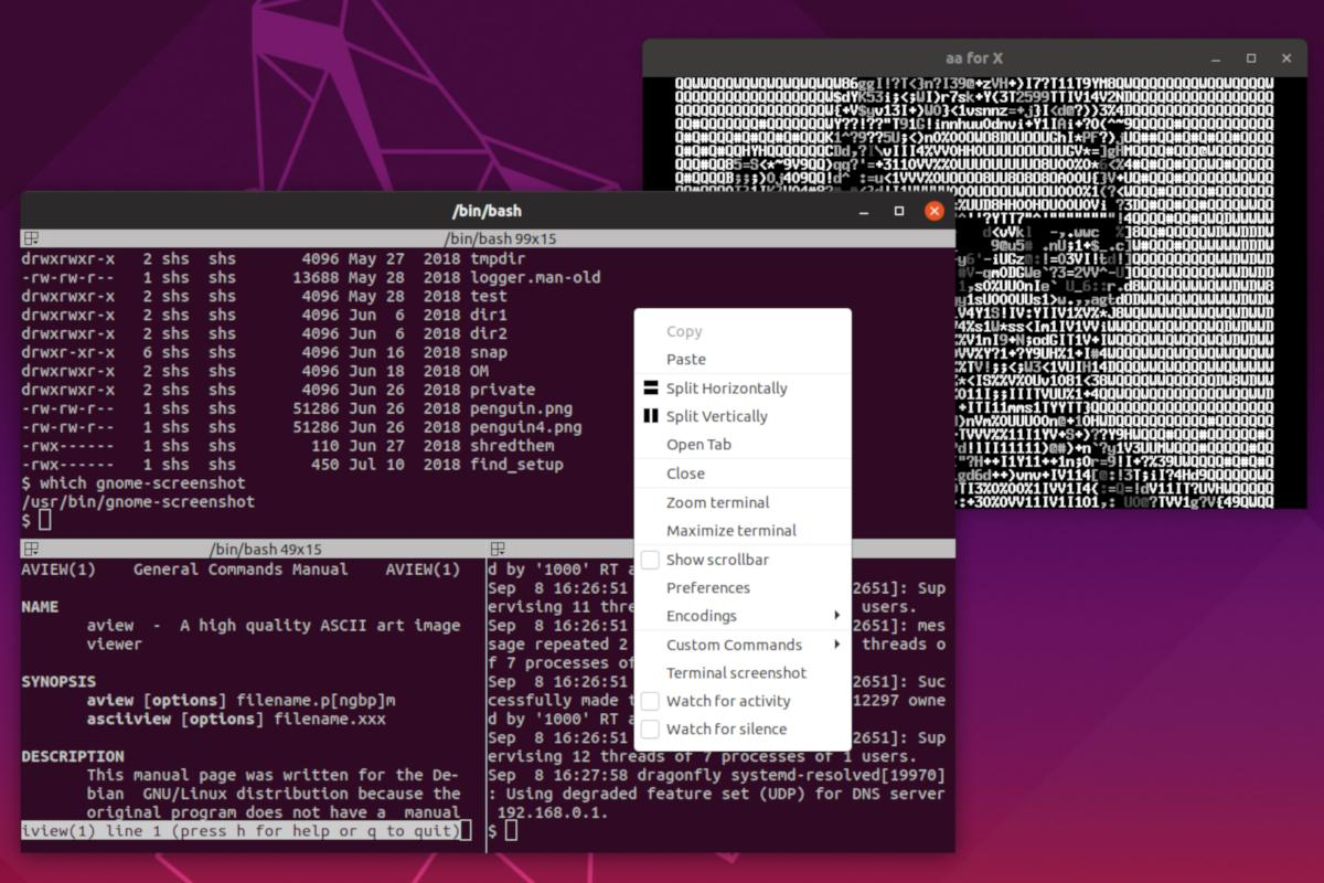How to use Terminator on Linux to run multiple terminals in