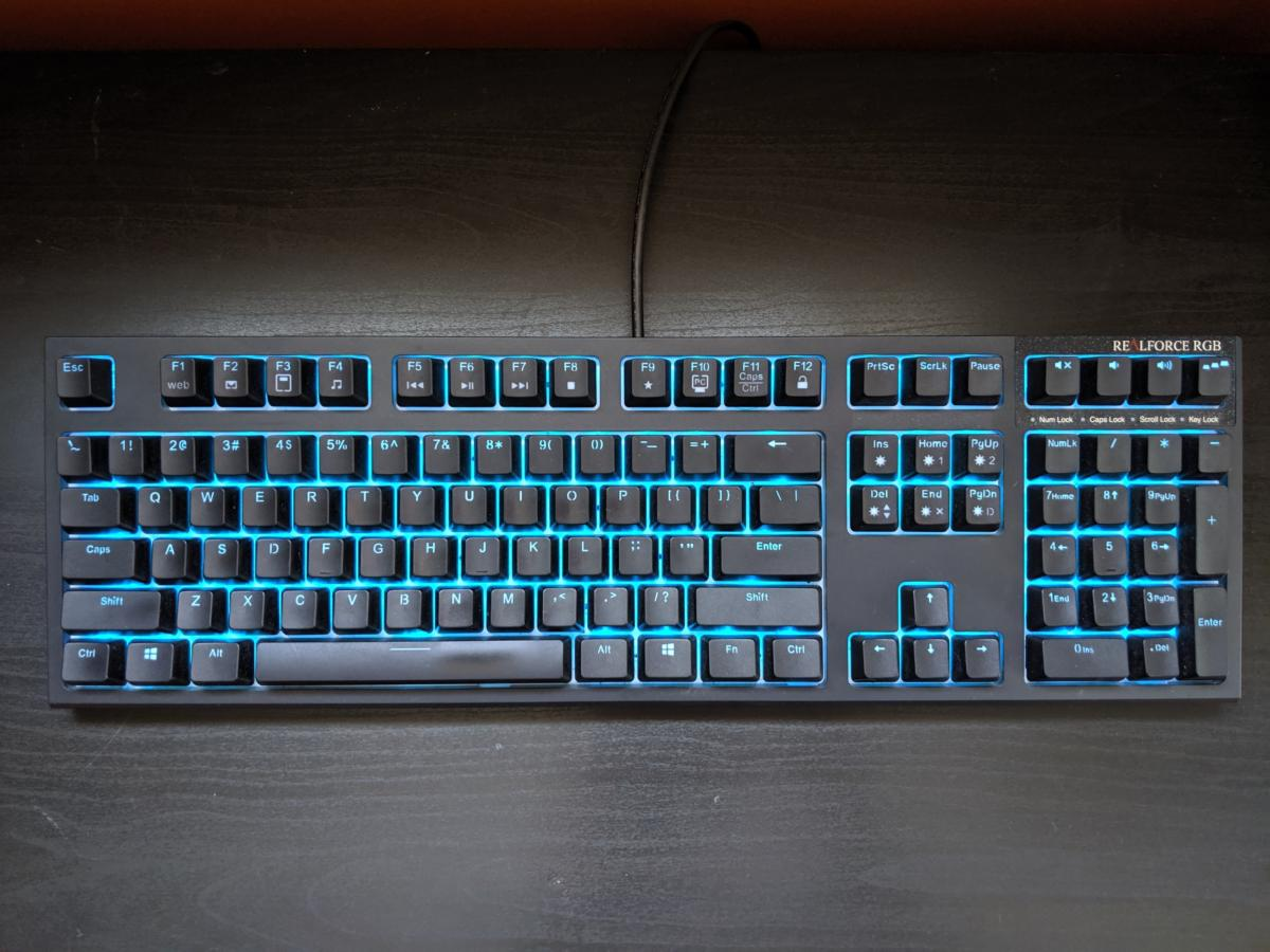 Realforce Rgb Gaming Keyboard Review Even For Topre Fans This Is