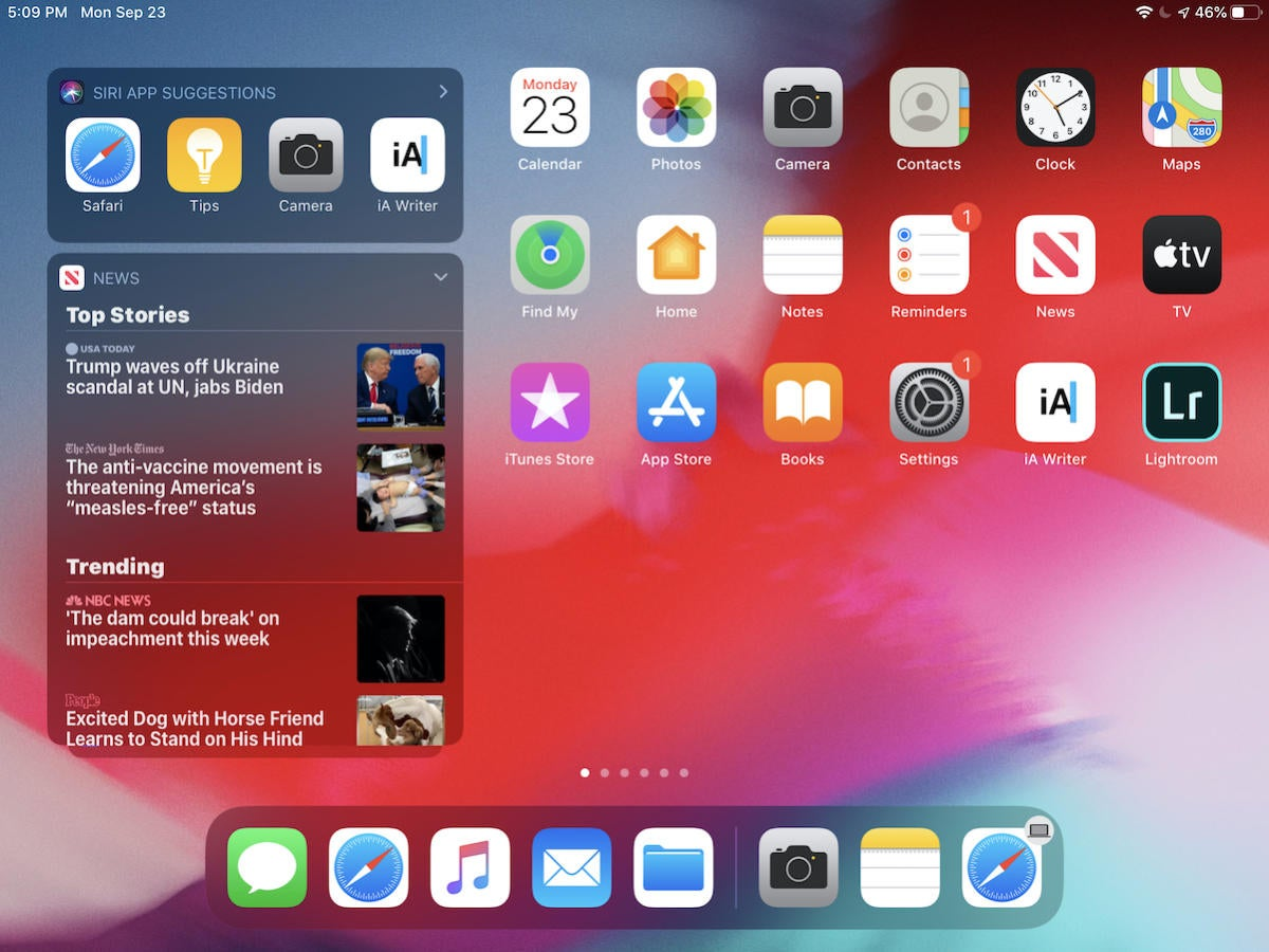 widgets home screen ipados 13