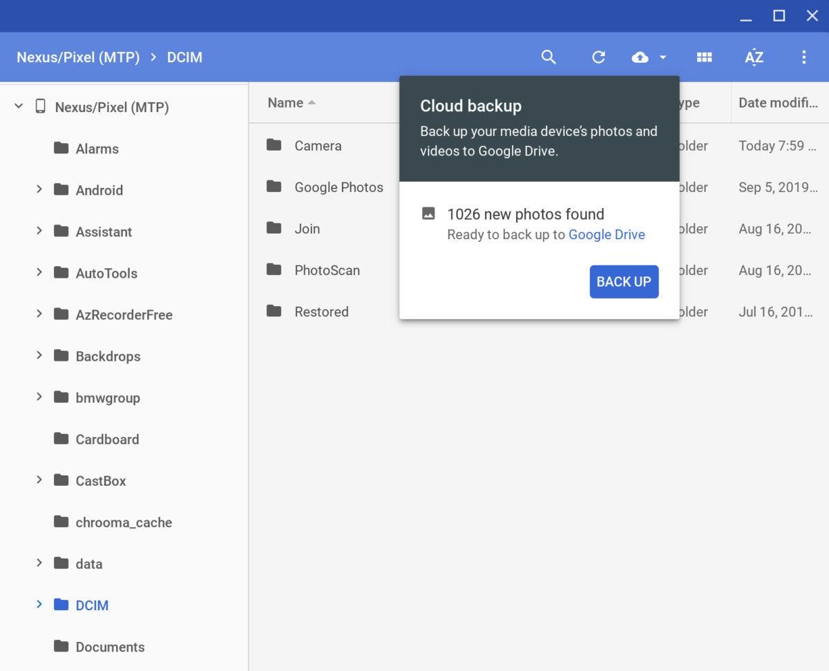 transferencia de archivos android chrome os