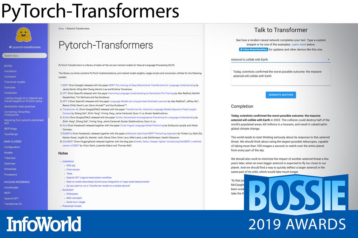 bossies 2019 pytorch transformers