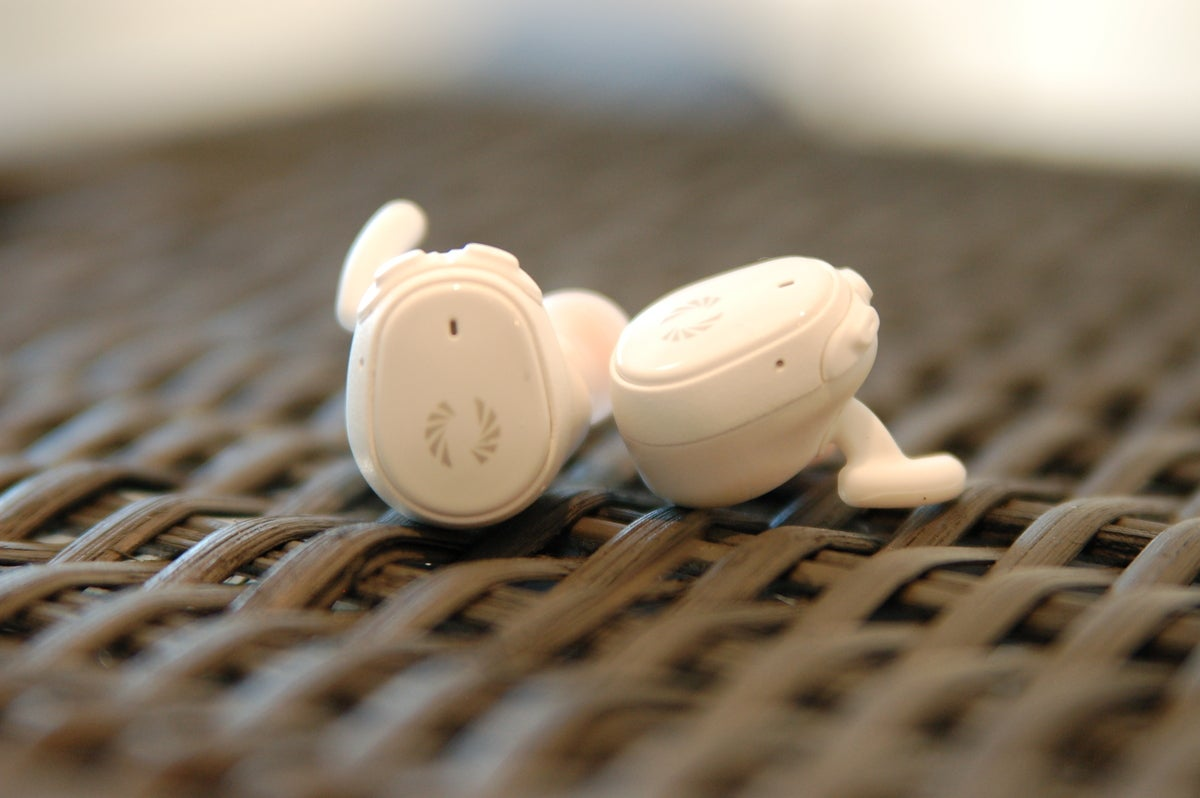 Phiaton Bolt BT 700 earbuds close to one another