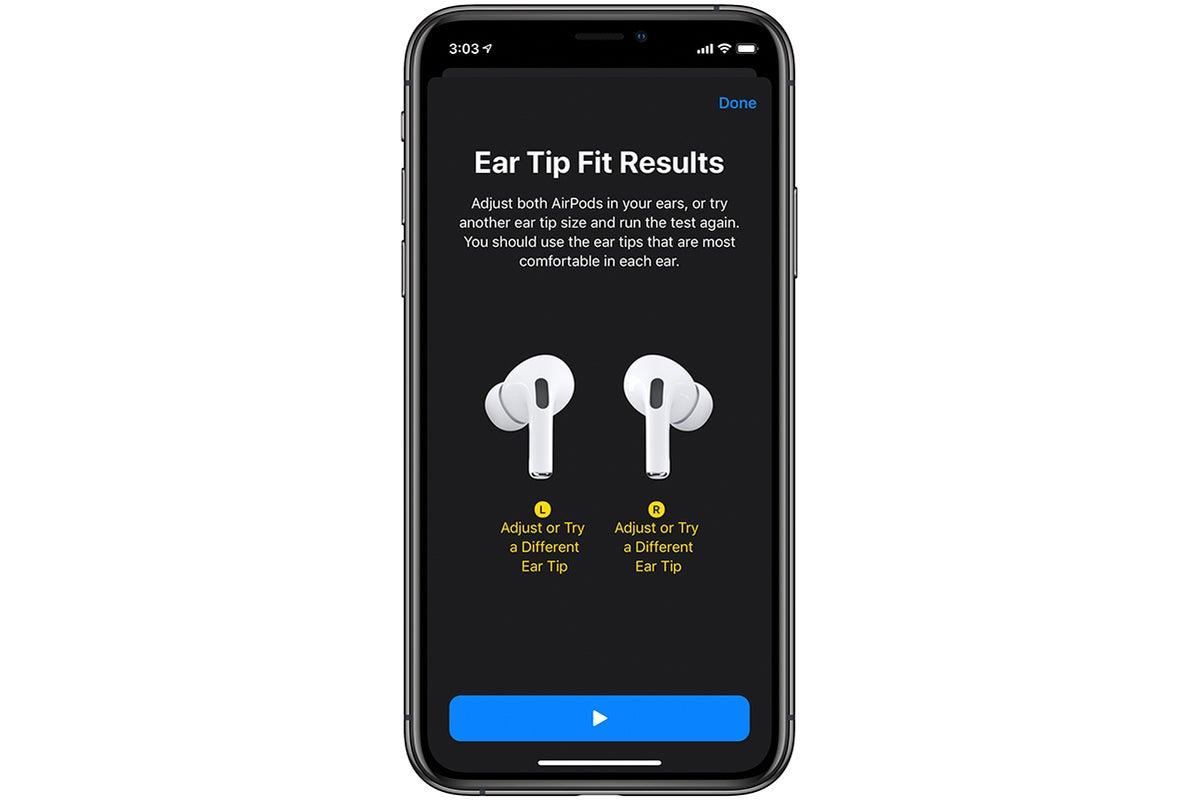 ear tip fit test failed