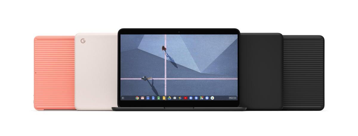 google pixelbook go family shot