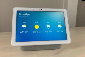 google nest hub max weather