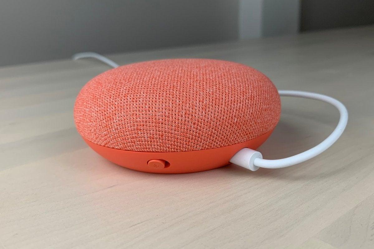 port d'alimentation du commutateur de sourdine du mini micro google nest