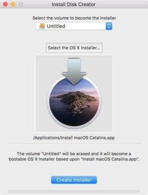 install disk creator catalina