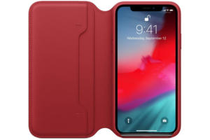 iphone xs leather folio product red