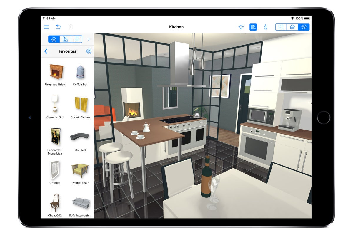 live home 3d pro ipad kitchen library