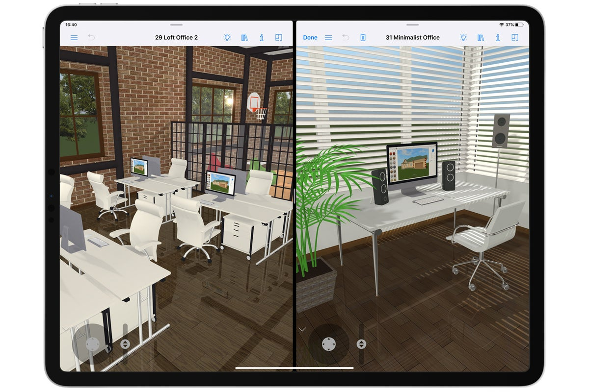 live home 3d pro ipad side by side projects